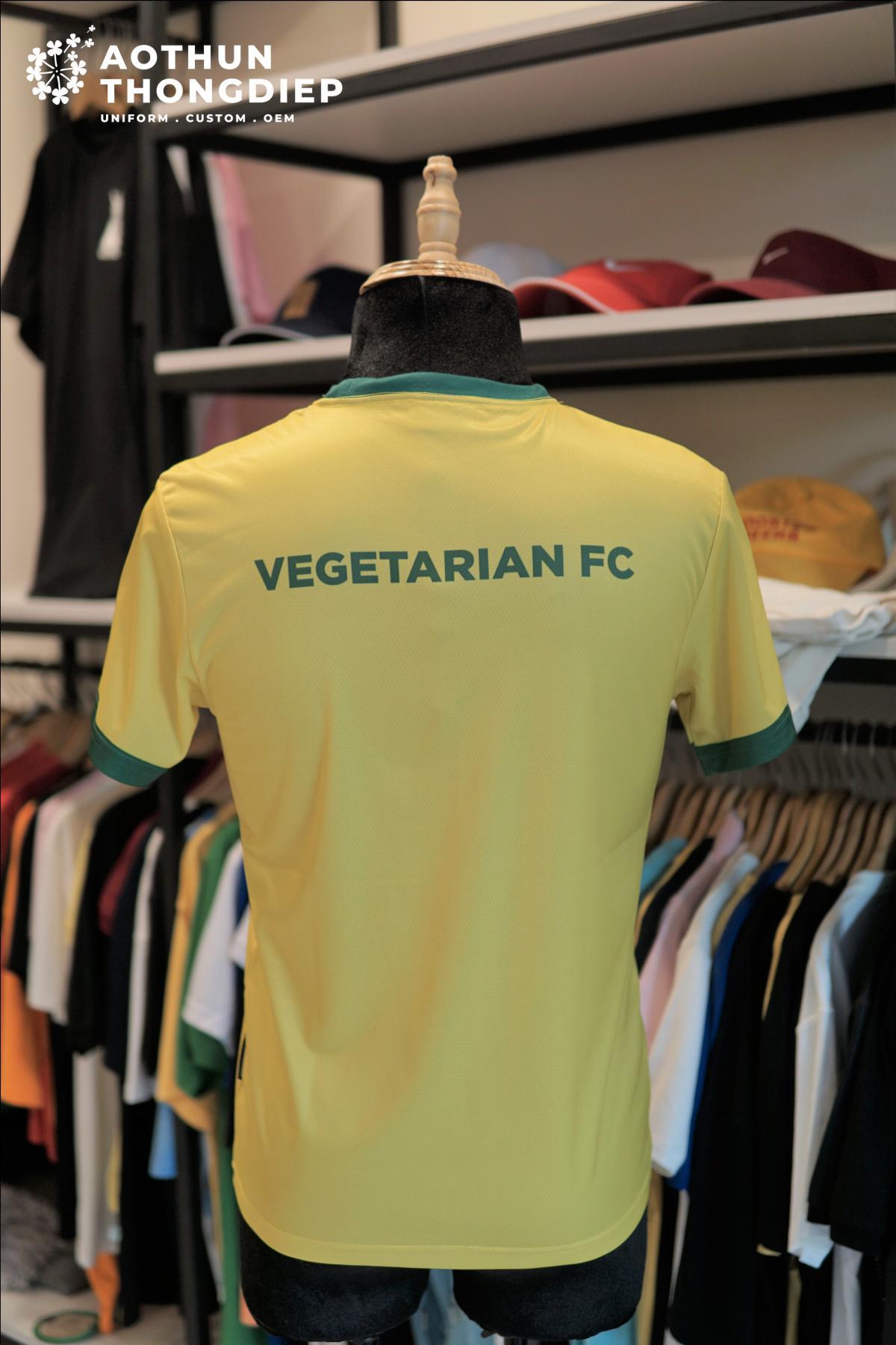 In áo thun đồng phục câu lạc bộ bóng đá Ăn chay FC #0