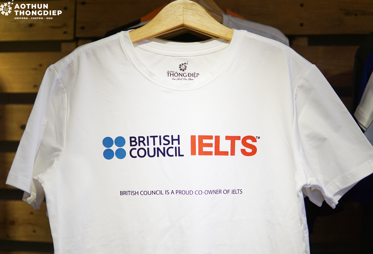 Áo thun đồng phục công ty IELTS BRITISH COUNCIL #0