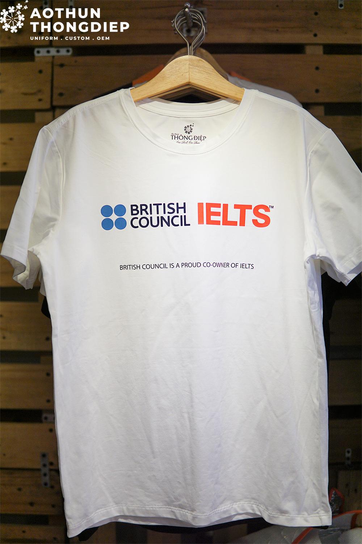 Áo thun đồng phục công ty IELTS BRITISH COUNCIL #1