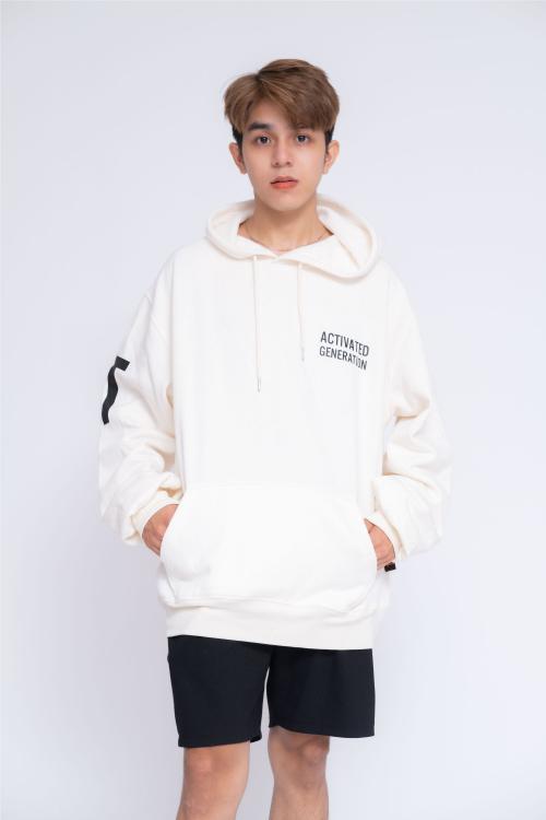 Áo Hoodie Oversized Nam Activated Generation Big Icon
