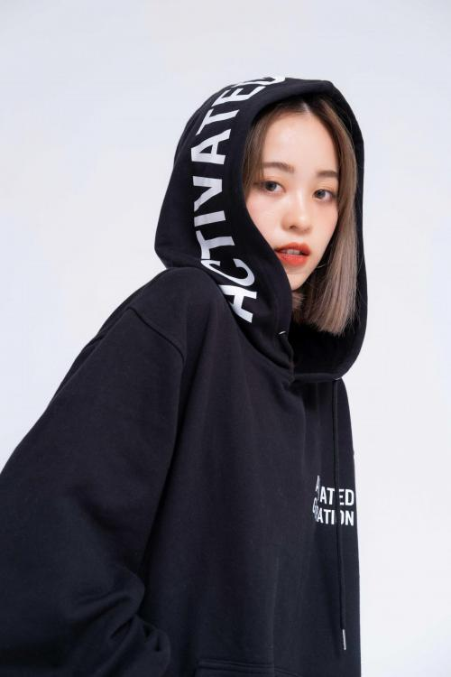 Áo Hoodie Oversized Nữ Activated Generation