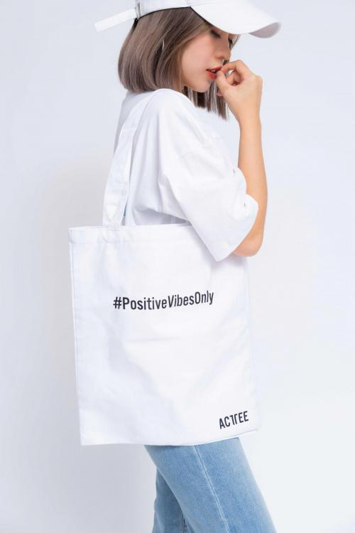 Túi Tote Positive Vibes Only