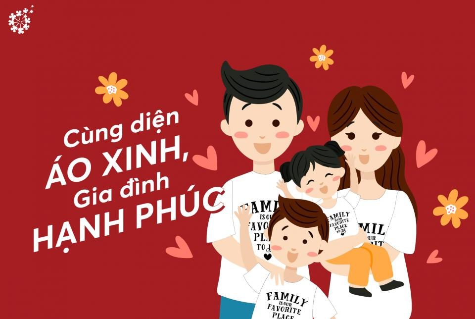 Những tips giúp bạn lựa chọn những chiếc áo phông đồng phục cho gia đình